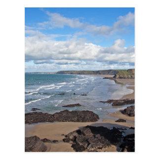 Cornish Coastline Postcard