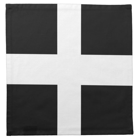 Cornish Flag Cocktail Napkins (Cloth)
