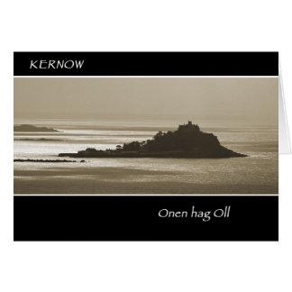 Cornish language greeting card