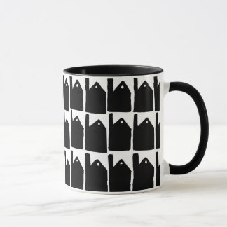 Cornish mines silhouette mug