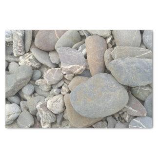 Cornish pebbles tissue paper
