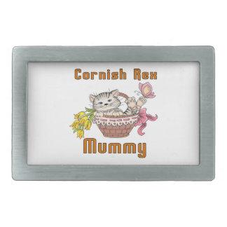 Cornish Rex Cat Mom Belt Buckles
