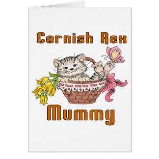 Cornish Rex Cat Mom Card