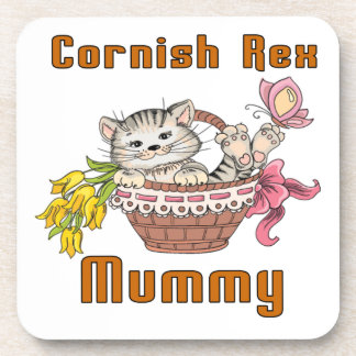 Cornish Rex Cat Mom Coaster