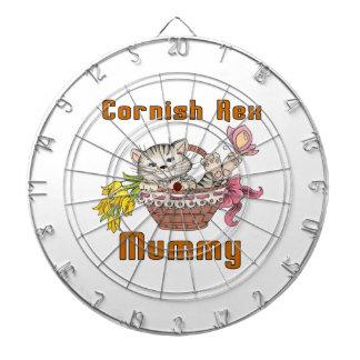 Cornish Rex Cat Mom Dartboard