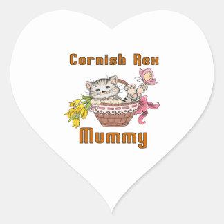 Cornish Rex Cat Mom Heart Sticker
