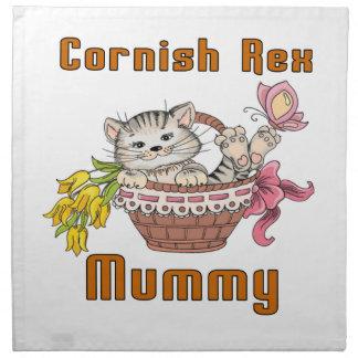 Cornish Rex Cat Mom Napkin