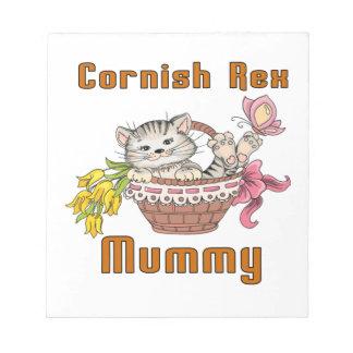 Cornish Rex Cat Mom Notepad