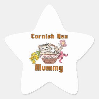 Cornish Rex Cat Mom Star Sticker