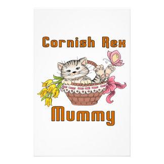 Cornish Rex Cat Mom Stationery