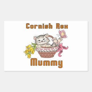 Cornish Rex Cat Mom Sticker