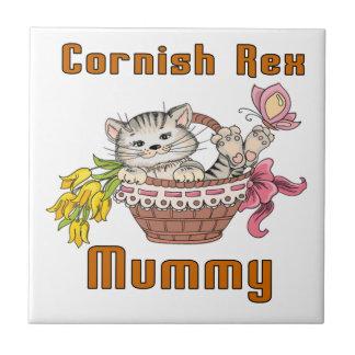 Cornish Rex Cat Mom Tile
