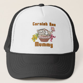 Cornish Rex Cat Mom Trucker Hat