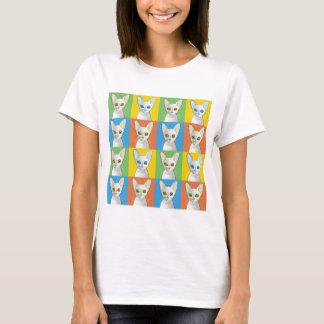Cornish Rex Cat Pop-Art T-Shirt