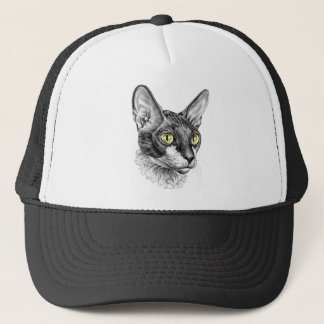 Cornish Rex Sketch Trucker Hat