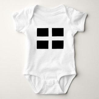 Cornish Saint Piran's Cornwall Flag - Baner Peran Baby Bodysuit
