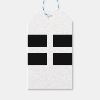 Cornish Saint Piran's Cornwall Flag - Baner Peran Gift Tags