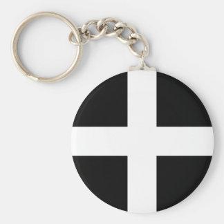 Cornish Saint Piran's Cornwall Flag - Baner Peran Keychain