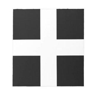 Cornish Saint Piran's Cornwall Flag - Baner Peran Notepad