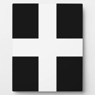 Cornish Saint Piran's Cornwall Flag - Baner Peran Plaque