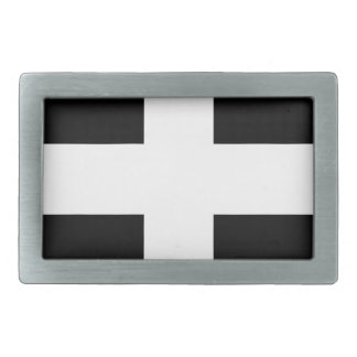 Cornish Saint Piran's Cornwall Flag - Baner Peran Rectangular Belt Buckles