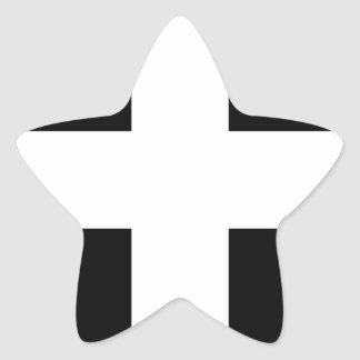 Cornish Saint Piran's Cornwall Flag - Baner Peran Star Sticker
