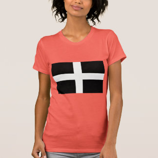 Cornish Saint Piran's Cornwall Flag - Baner Peran T-Shirt