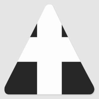 Cornish Saint Piran's Cornwall Flag - Baner Peran Triangle Sticker