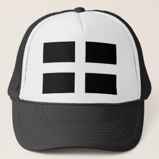 Cornish Saint Piran's Cornwall Flag - Baner Peran Trucker Hat