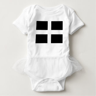Cornish Saint Piran's Flag - Flag of Cornwall Baby Bodysuit