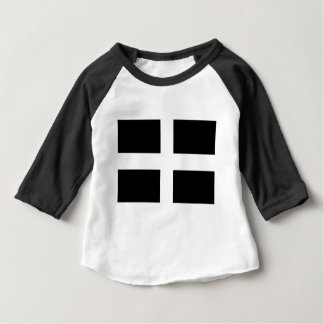 Cornish Saint Piran's Flag - Flag of Cornwall Baby T-Shirt