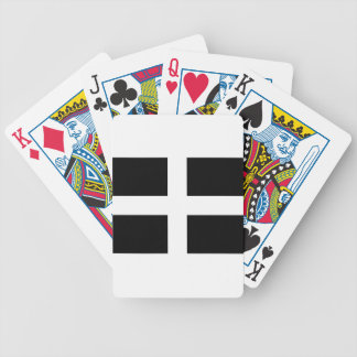 Cornish Saint Piran's Flag - Flag of Cornwall Bicycle Playing Cards