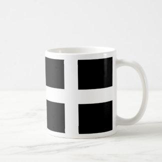 Cornish Saint Piran's Flag - Flag of Cornwall Coffee Mug
