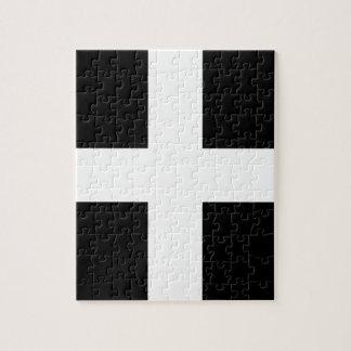 Cornish Saint Piran's Flag - Flag of Cornwall Jigsaw Puzzle