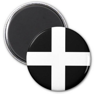 Cornish Saint Piran's Flag - Flag of Cornwall Magnet