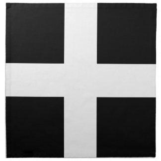 Cornish Saint Piran's Flag - Flag of Cornwall Napkin