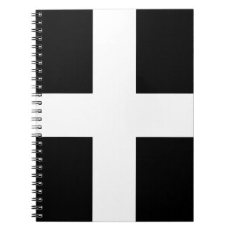 Cornish Saint Piran's Flag - Flag of Cornwall Notebooks