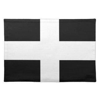 Cornish Saint Piran's Flag - Flag of Cornwall Placemat