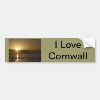 Cornish sunset bumper sticker