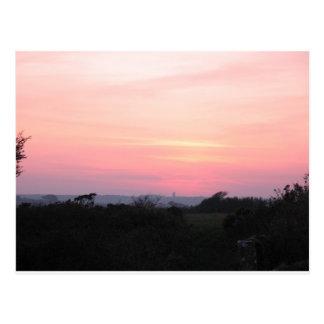 Cornish Sunset Postcard (5983)