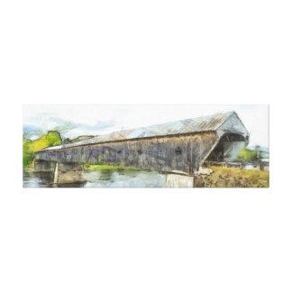 Cornish Windsor Covered Bridge Canvas Print