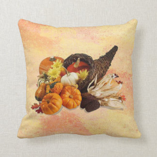Cornucopia 2 throw pillow