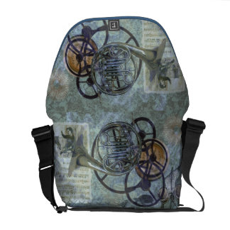Cornucopia, a French Horn Steampunk Fantasy Courier Bag