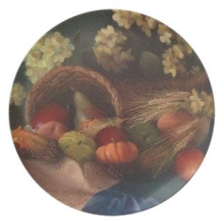 Cornucopia Dinner Plate