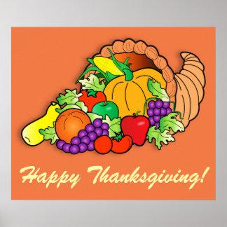 Cornucopia Happy Thanksgiving! Poster