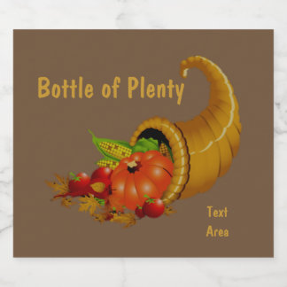 Cornucopia / Horn of Plenty Beer Bottle Label