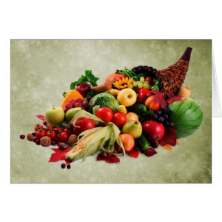 Cornucopia Horn of Plenty | Happy Thanksgiving Card