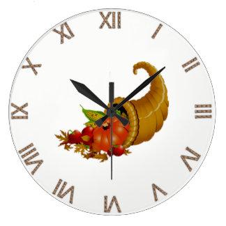 Cornucopia / Horn of Plenty Wall Clock