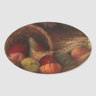 Cornucopia Oval Sticker