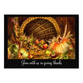 Cornucopia Thanksgiving Dinner Party Card